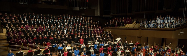 Massed choirs with QYO